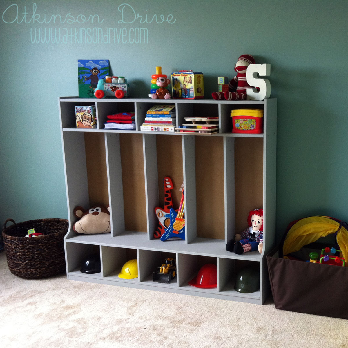 Toddler Locker Organization System Via Atkinson Drive Toy Storage Cubbies,  Atkinson Drive