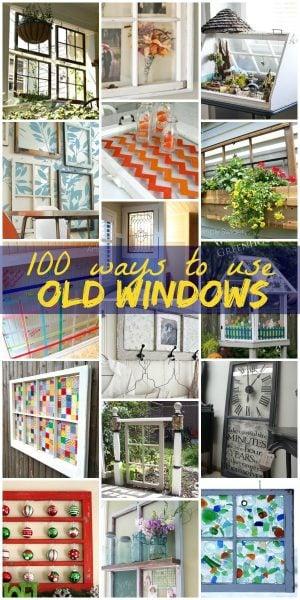 100 Ways to Use Old Windows on Remodelaholic