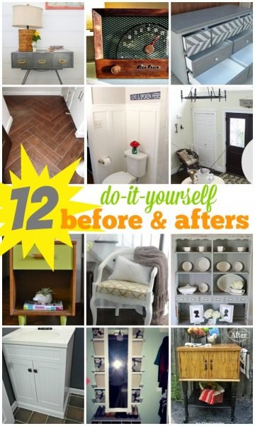 12 DIY Before and After Projects on Remodelaholic