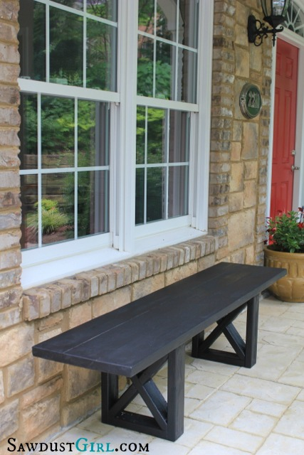 how to build a wooden bench for outside, Remodelaholic.