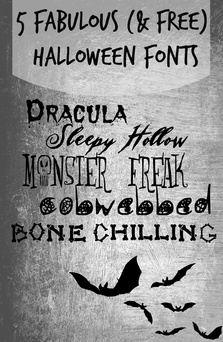 5 Fabulous (and FREE) Fonts for Halloween