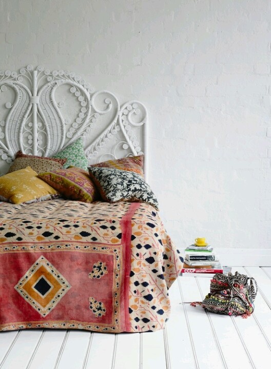 Stunning Bohemian Chic decorating with texture and pattern Remodelaholic