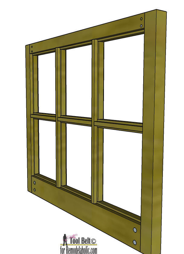 free plans and tutorial to build a diy 6 pane window frame like those old vintage - Window Pane Picture Frame