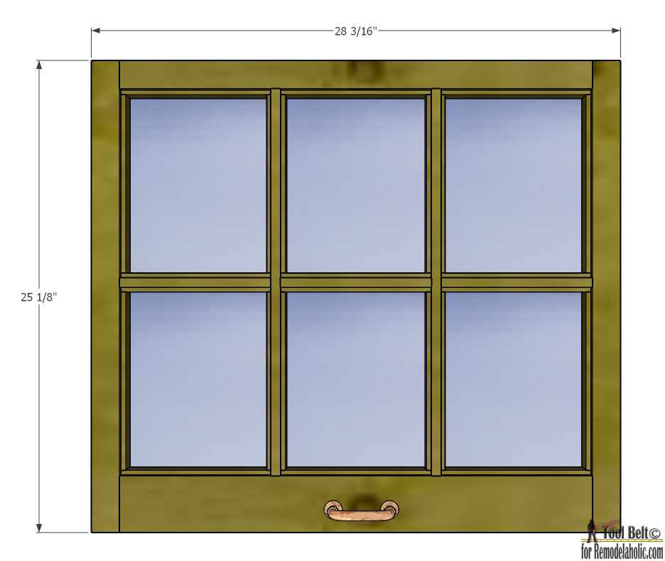 Remodelaholic build it 6 pane decorative window for Glass windows