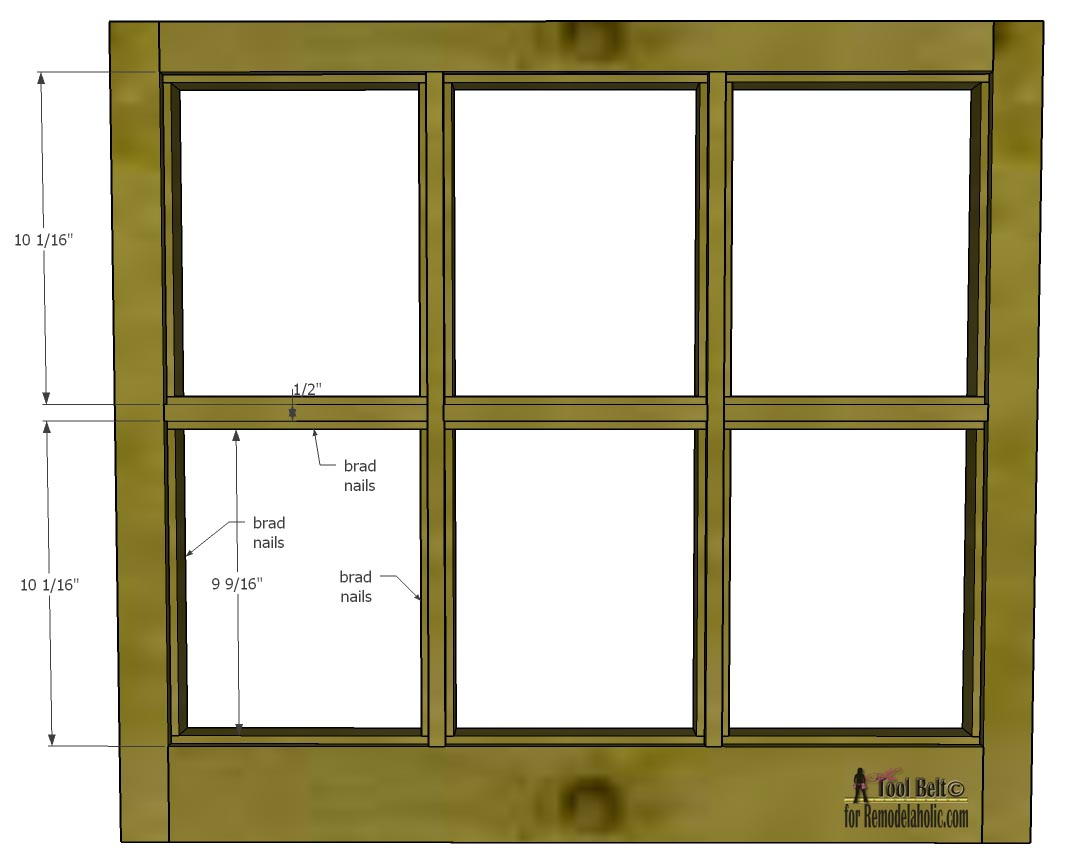 8 Pane Window Frame Remodelaholic Build It 6 Pane Decorative Window