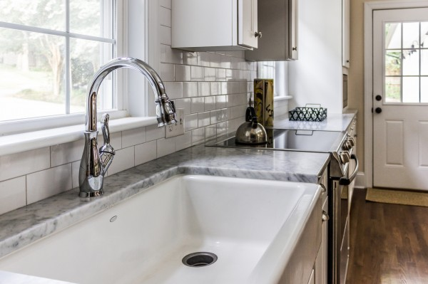 8 open kitchen with marble countertops, Cobblestone DG on Remodelaholic