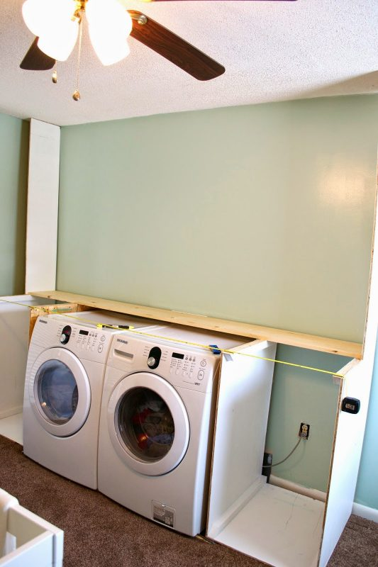 Building the laundry unit 01, Seesaws and Sawhorses on Remodelaholic