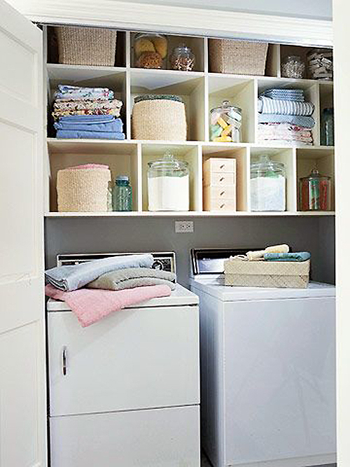 Closet Laundry With Pretty Storage