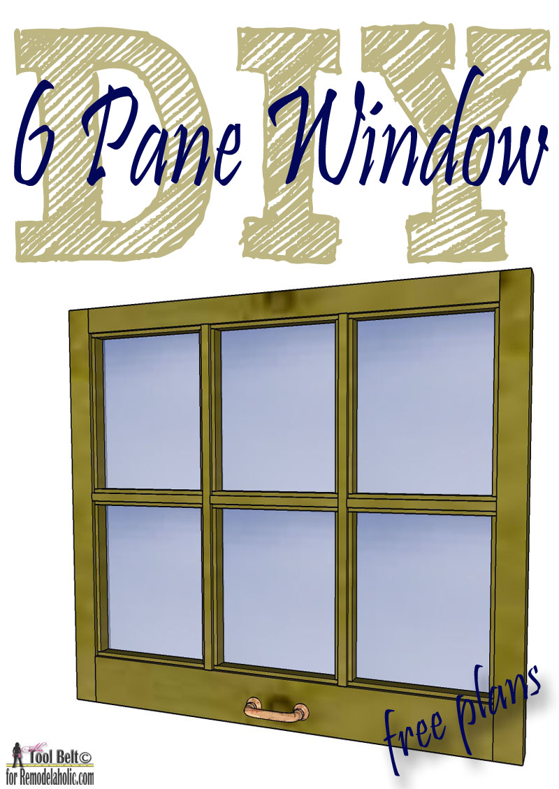 free plans and tutorial to build a diy 6 pane window frame like those old vintage - Window Pane Frame