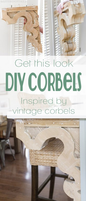DIY Vintage-Inspired Corbels | pattern and tutorial on Remodelaholic.com #corbel #decorate #diy #woodwork