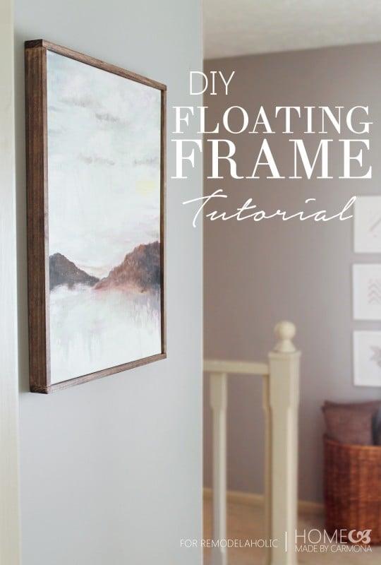 DIY Floating Frame Tutorial
