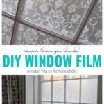 DIY Window Film For Privacy, Annabel Vita On Remodelaholic
