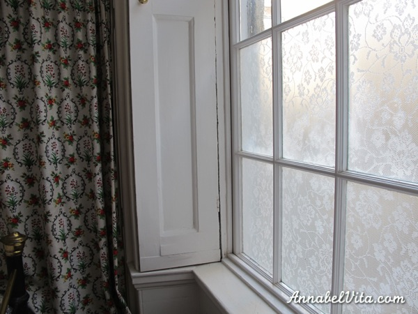 By Annabel Vita · DIY Lace Privacy Window Covering, Annabel Vita On  Remodelaholic