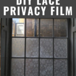 DIY Window Film With Lace, Tutorial From Annabel Vita On Remodelaholic
