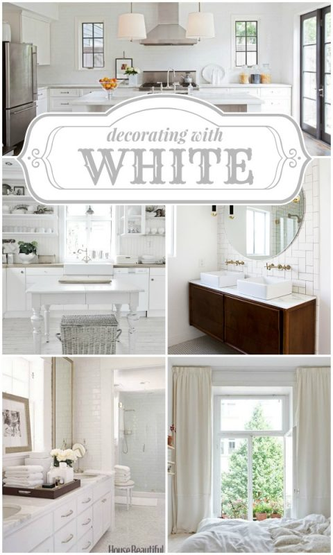 Decorating with White on Remodelaholic