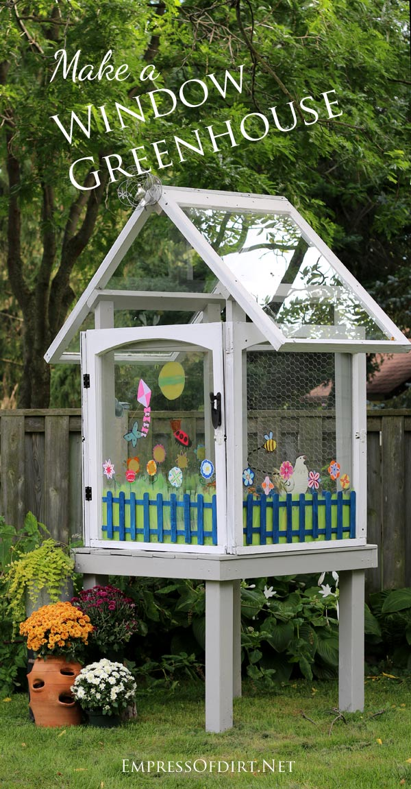 Remodelaholic 100 ways to use old windows for How to build a greenhouse using old windows