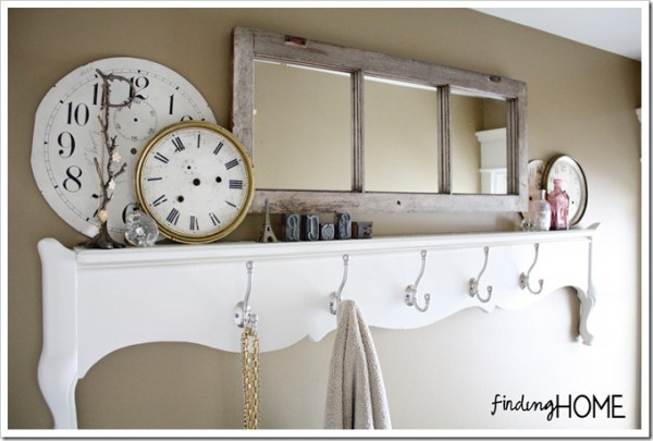 Finding Home - old window mirror for bathroom - via Remodelaholic