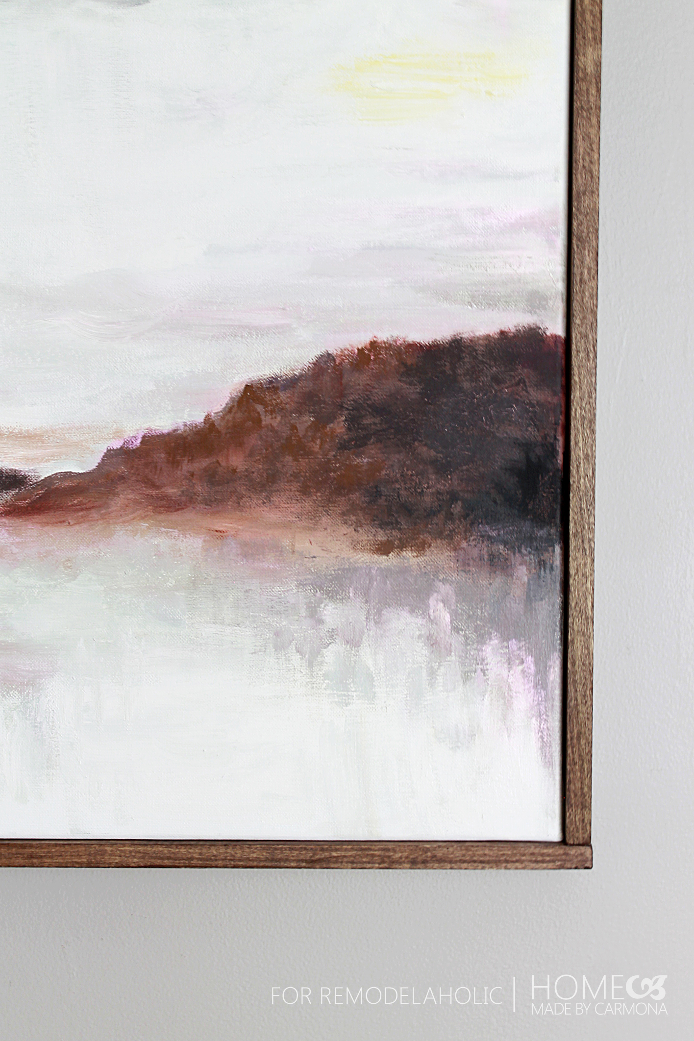 Tutorial: Chic Floating Frame for a Canvas | Remodelaholic | Bloglovin\'
