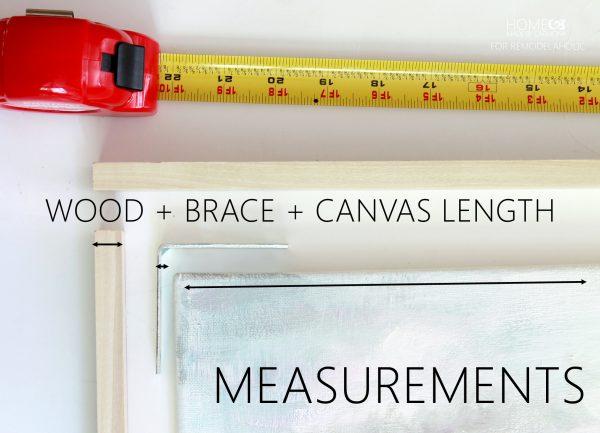 Floating Frame - measurements - for Remodelaholic