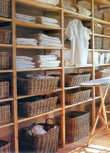 Great open storage in launrdry room