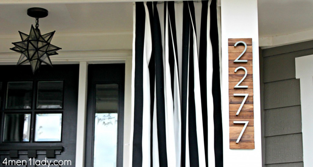 How to build a Wooden House Number Sign on Remodelaholic