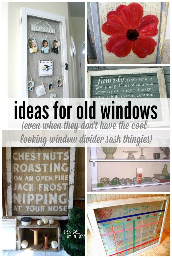 Remodelaholic 100 ways to use old windows for Old window project ideas