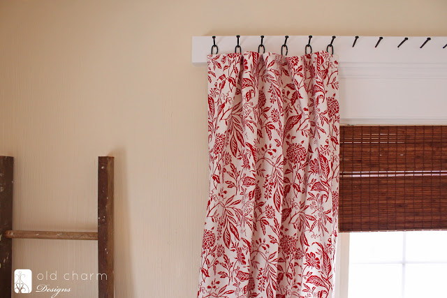 Remodelaholic 25 creative diy curtain rod tutorials for Unusual ways to hang curtains