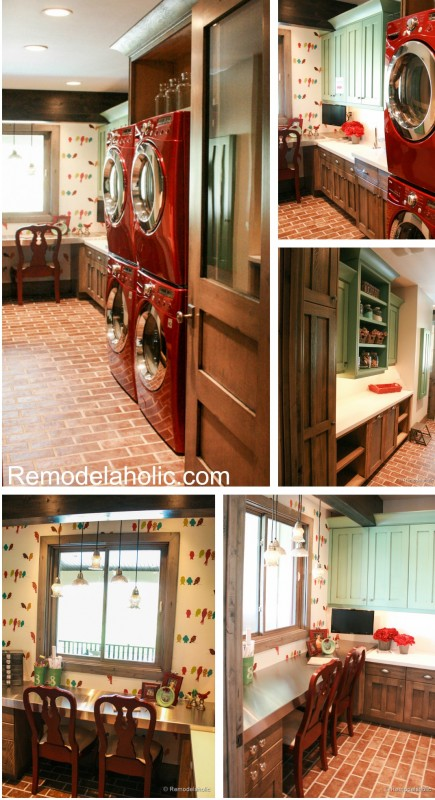 Large Crafting and Laundry room. Fabulous Laundry room design ideas from @Remodelaholic (7 of 103)