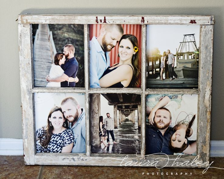 laura haley photography old paned window as photo frame via remodelaholic - Window Picture Frames