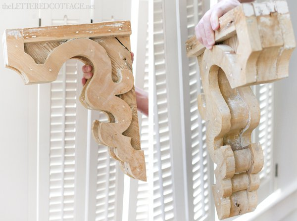 Lettered Cottage Wood Corbels