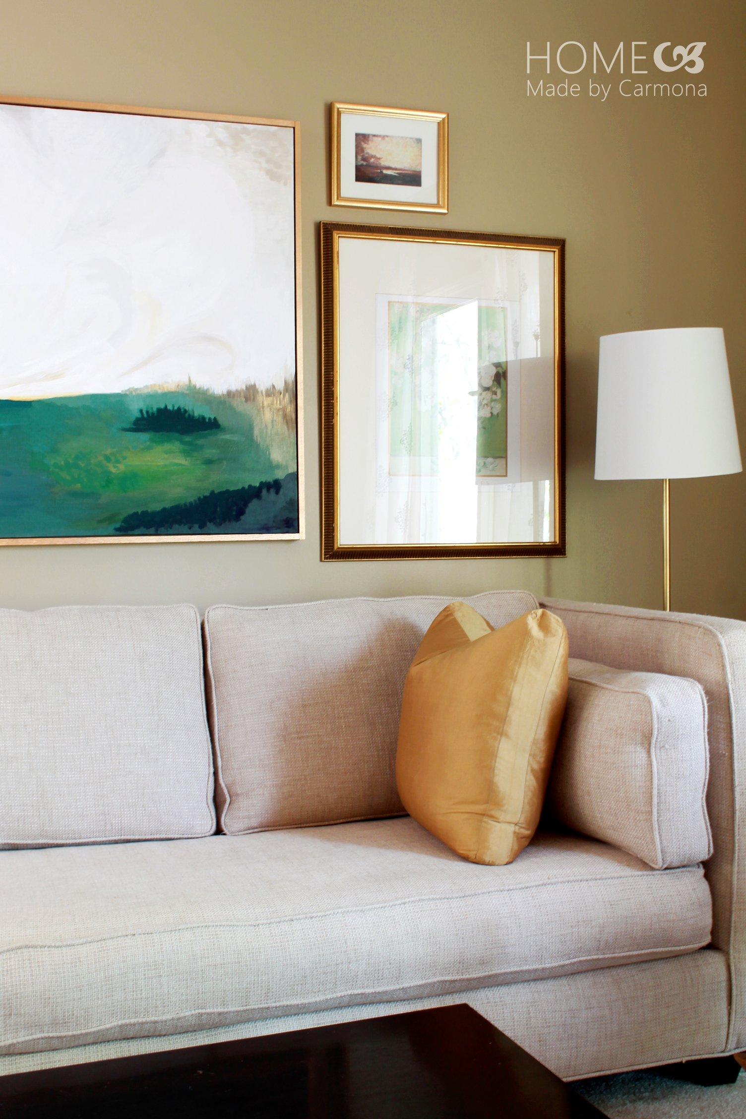 living room art2 - Diy Floating Frame