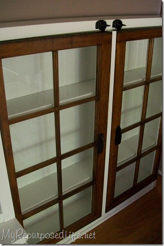 My Repurposed Life - repurposed old windows cabinet - via Remodelaholic