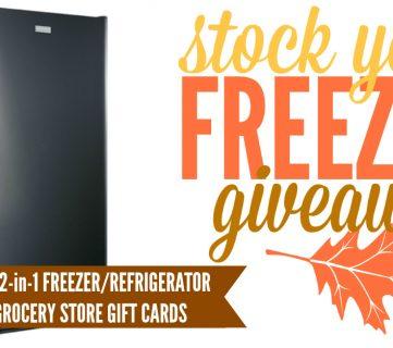 Frigidaire Freezer + Grocery Giveaway