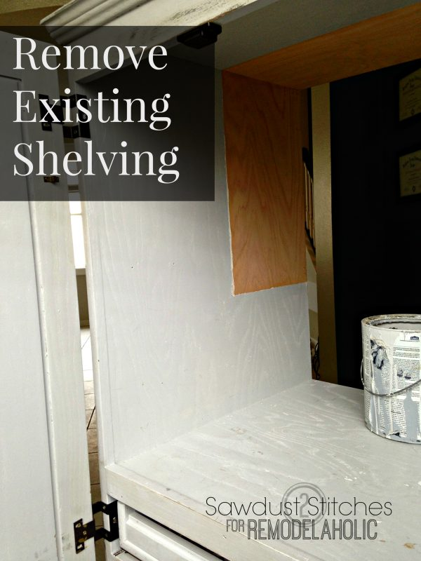 Remove  shelving ss remodelaholic