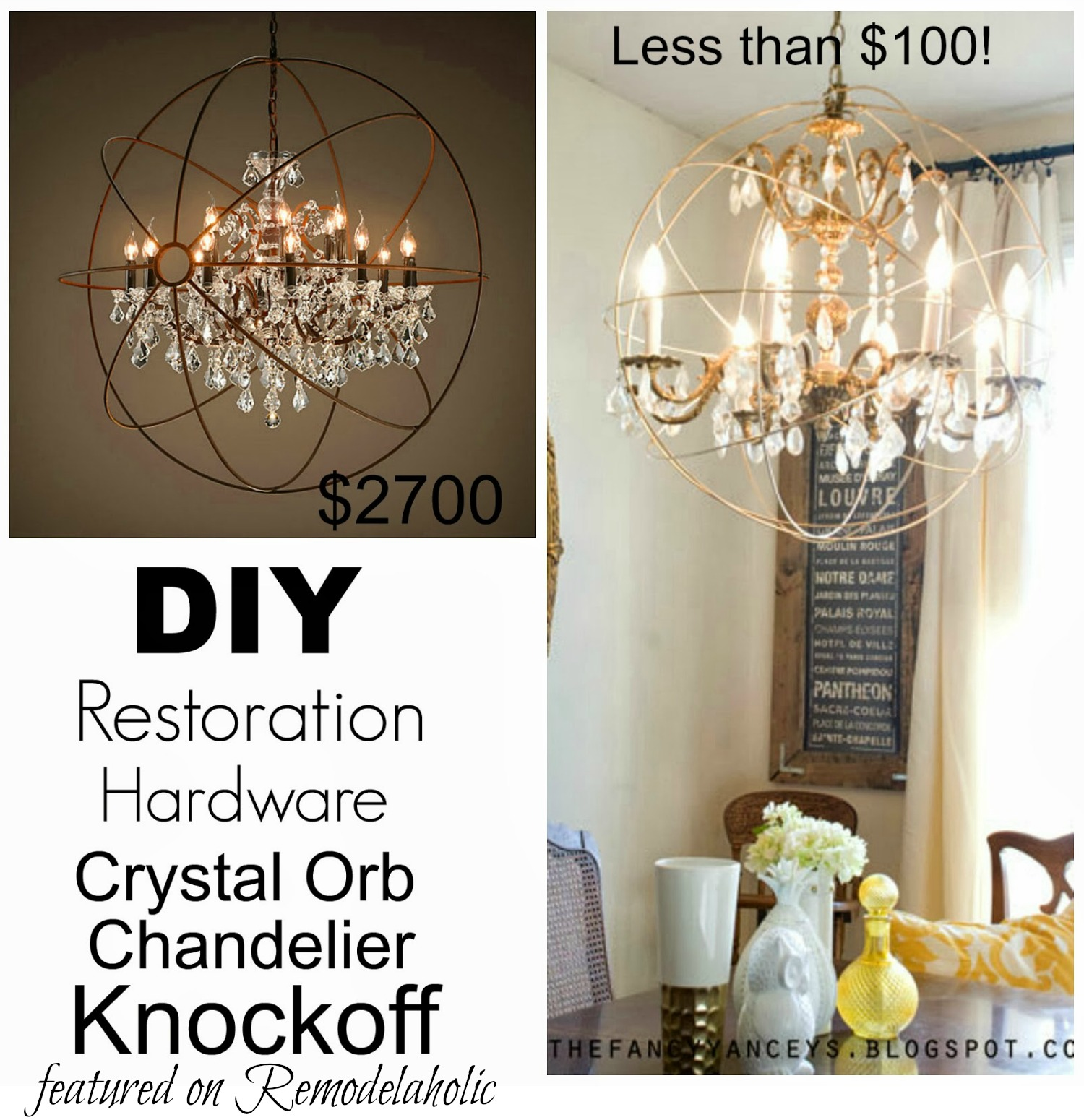 Charming How To Create A Crystal Orb Chandelier Like Restoration Hardware | Vintage  Romance Style Featured On