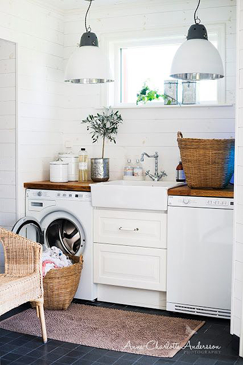 Remodelaholic 20 One Wall And Small Laundry Rooms