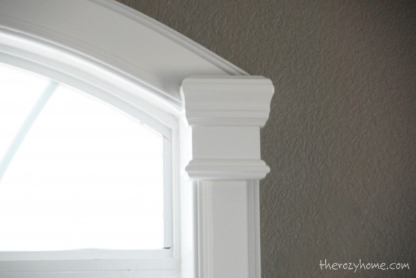 The Rozy Home on Remodelaholic how to trim arched windows via Remodelaholic