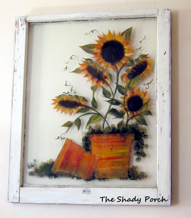 Remodelaholic 100 ways to use old windows for Painting on glass windows with acrylics