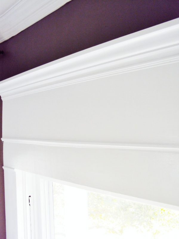 Thistlewood Farms inexpensive way to add height to window frames via Remodelaholic