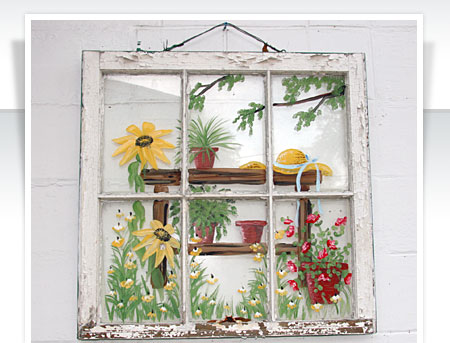 Painting On Old Glass Windows