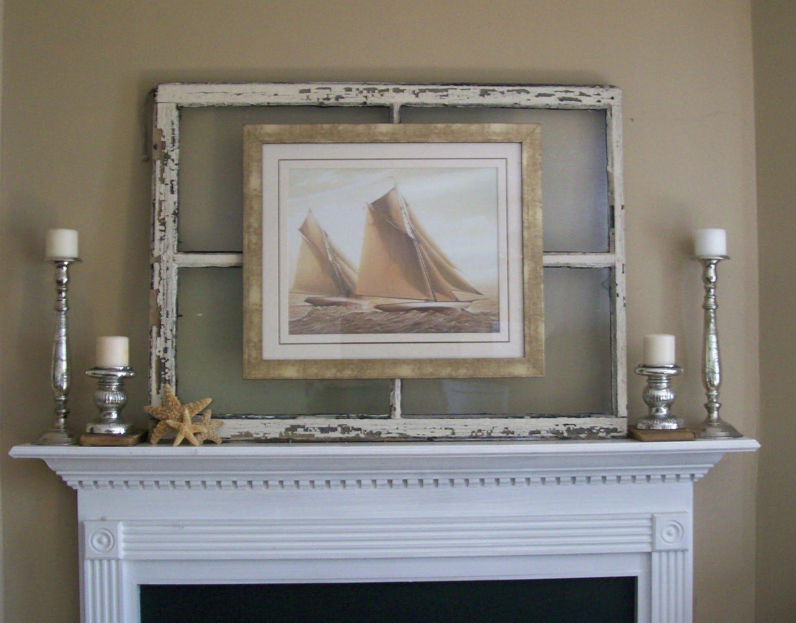 walnut and vine hang a photo or art print on an old mirror via - Window Pane Frame