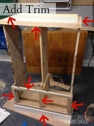add trim locker remodelaholic