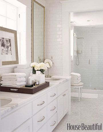 New Decorating with White Remodelaholic white bath with tile