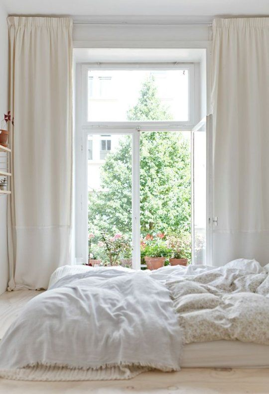 Decorating with White @Remodelaholic -- all white bedroom