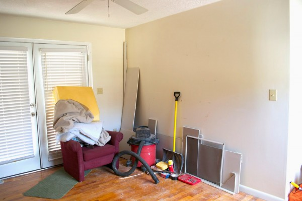 before the laundry unit, Seesaws and Sawhorses on Remodelaholic