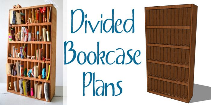 Divided Bookcase Building Plan