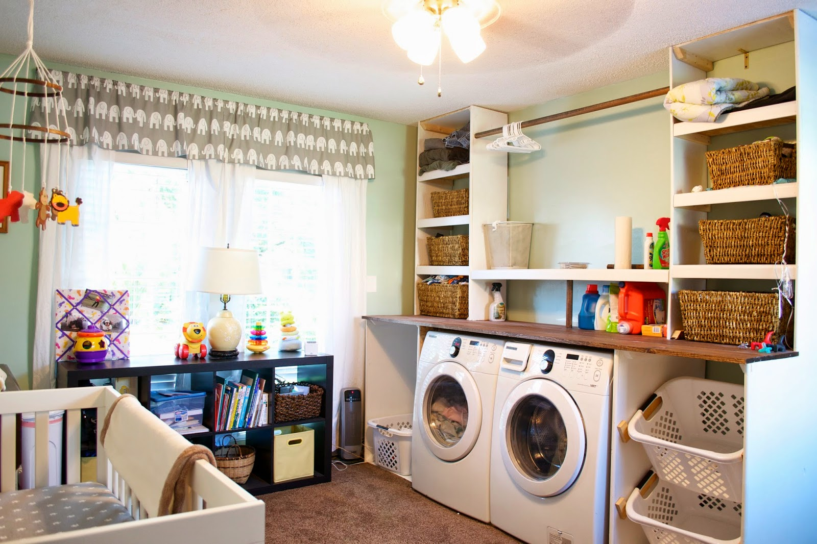 Remodelaholic | Built-in Laundry Unit with Shelving