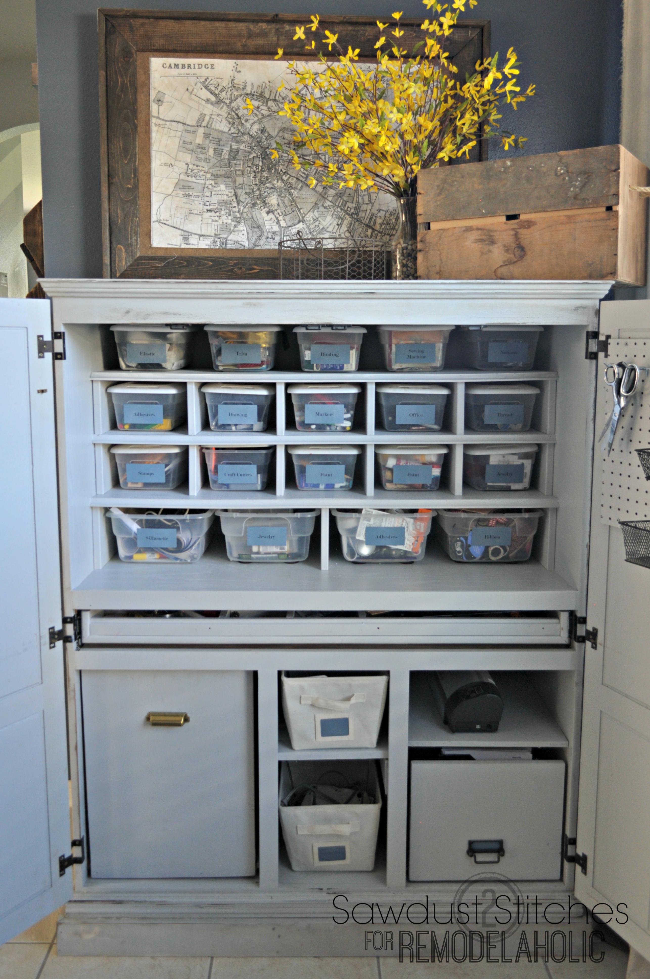 Remodelaholic Craft Cabinet Makeover