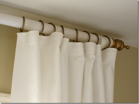 diy curtain rod In My Own Style via Remodelaholic