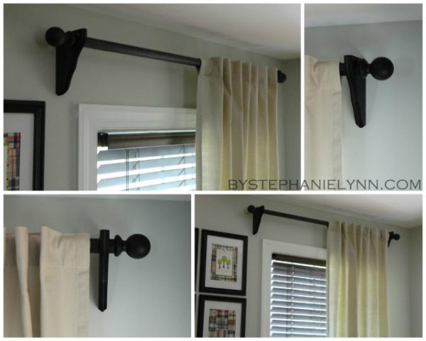 diy curtain rod Stephanie Lynn via Remodelaholic